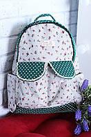 Рюкзак женский 26 х 10 х 38 6701-зел