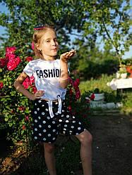 Модный детский костюм для девочки летний