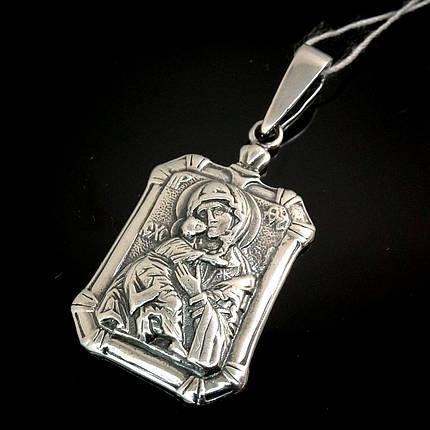 Срібна підвіска-ладанка Свята Богородиця, 7 грам, фото 2