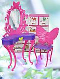 Столик з дзеркалом і стілець (аксесуари для ляльок), фото 2