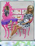 Столик з дзеркалом і стілець (аксесуари для ляльок), фото 3