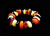 Браслет з бурштинової смоли різнобарвний