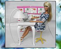 Стол, стул и торшер (аксессуары для кукол)