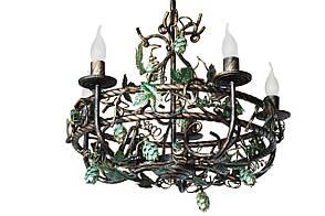 """Люстра кованая  """"Дионис"""" цвет старая бронза на 8 ламп"""