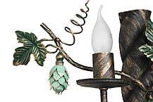 """Люстра кованая  """"Дионис"""" цвет старая бронза+чорный бархат на 8 ламп, фото 3"""