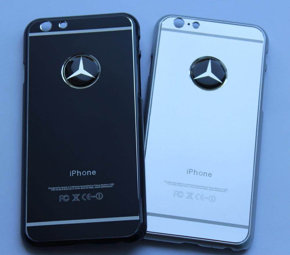 Чехол для iPhone 6 Mercedes металлический