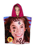 Пляжное полотенце-пончо для девочек  Дисней оптом,  55*110 см, арт. 821-078