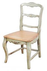 Деревянный стул из ясеня и березы в стиле Прованс оливкового цвета(50*45*90см)