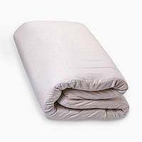 Льняной матрас в кроватку (чехол хлопок) размер 80х160х7 см., Кремовый