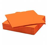 Салфетки бумажные 33х33см, 2-х сл., оранжевые 1/4 сл., 100 шт/уп.