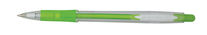 Ручка шариковая Buromax Jobmax синий mix 4 дизайна 0,7мм автомат (BM.8210)