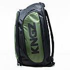 Рюкзак Kingz Convertible Training Bag 2.0 Черный с зеленым, фото 2