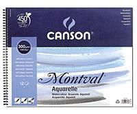 Склейка для акварели Canson Montval на пружине А5 (13,5х21см) 300 г/м2 12 листов (200807156)