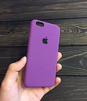 Силиконовый чехол Apple Silicone Case для iPhone 6/6s Soft touch Люкс качество чехлы на айфон Пурпурный