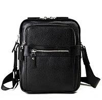 Кожаная мужская сумка Norfolk Черная (00470)