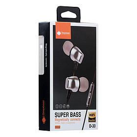 Вакуумные наушники Deepbass D-30, ЦУ-00024444