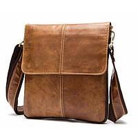 Мужская кожаная сумка Devont коричневая (DT8006C)
