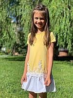 Яркое платье для девочки  5- 8 лет