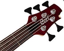 Бас-гітара 5-струнна CORT A5 Plus FMMH (Open Pore Black Cherry), фото 2