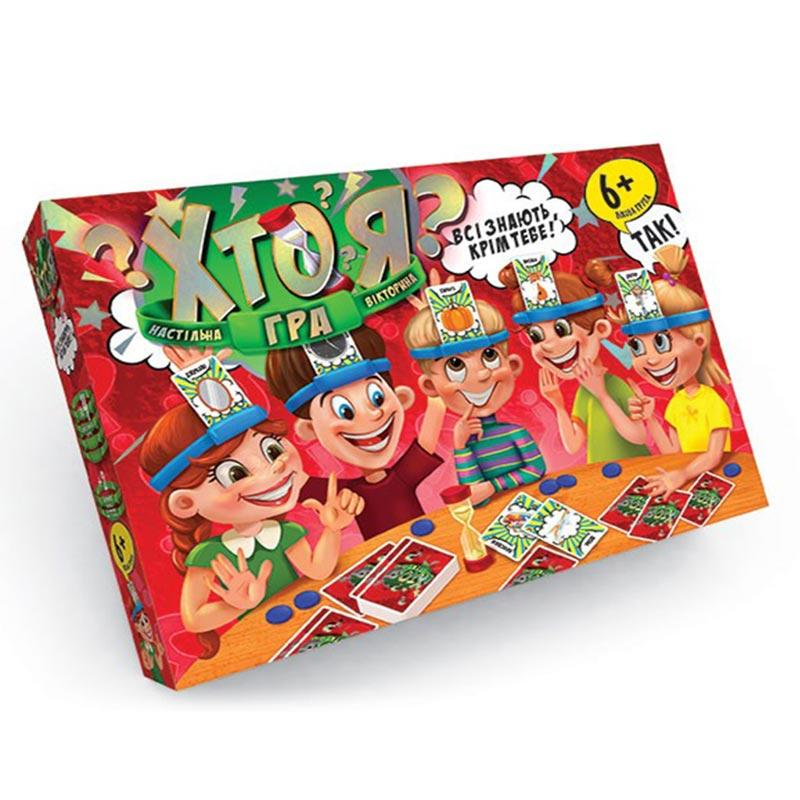 """Гра настільна """"Хто я?"""" 01-02 Danko Toys"""
