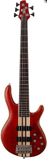 Бас-гітара 5-струнна CORT A5 Plus FMMH (Open Pore Black Cherry)