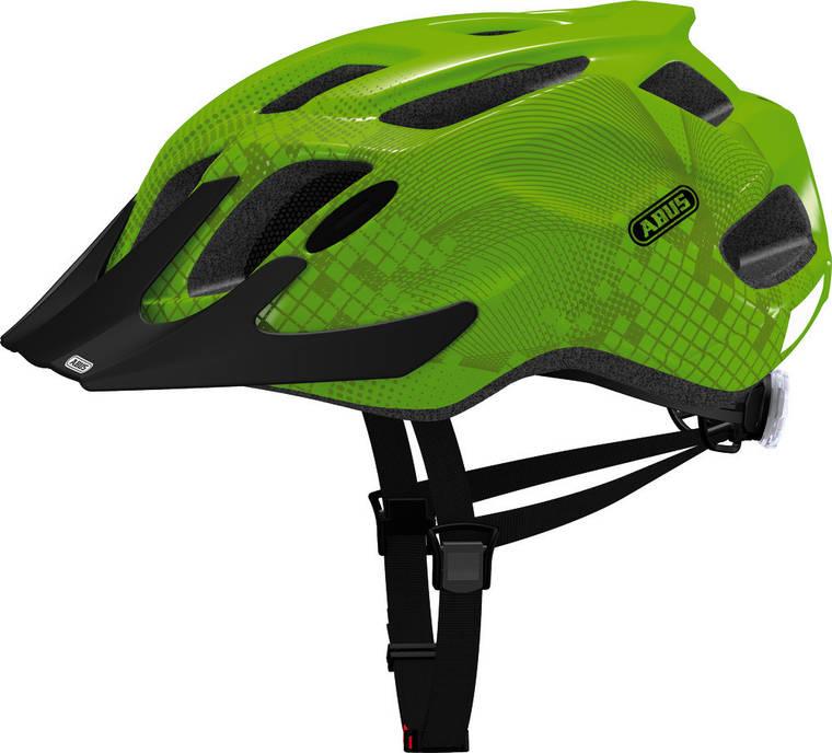 Велосипедний дитячий шолом ABUS MOUNTX M Apple Green, фото 2