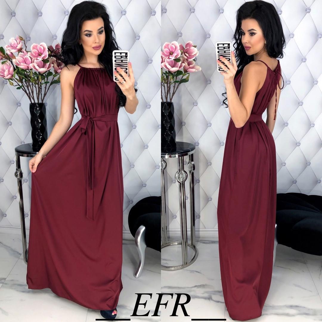 Женское шелковое платье в пол (м. 4051) Разные цвета, фото 1