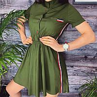 Женское летнее платье с лампасами, фото 1