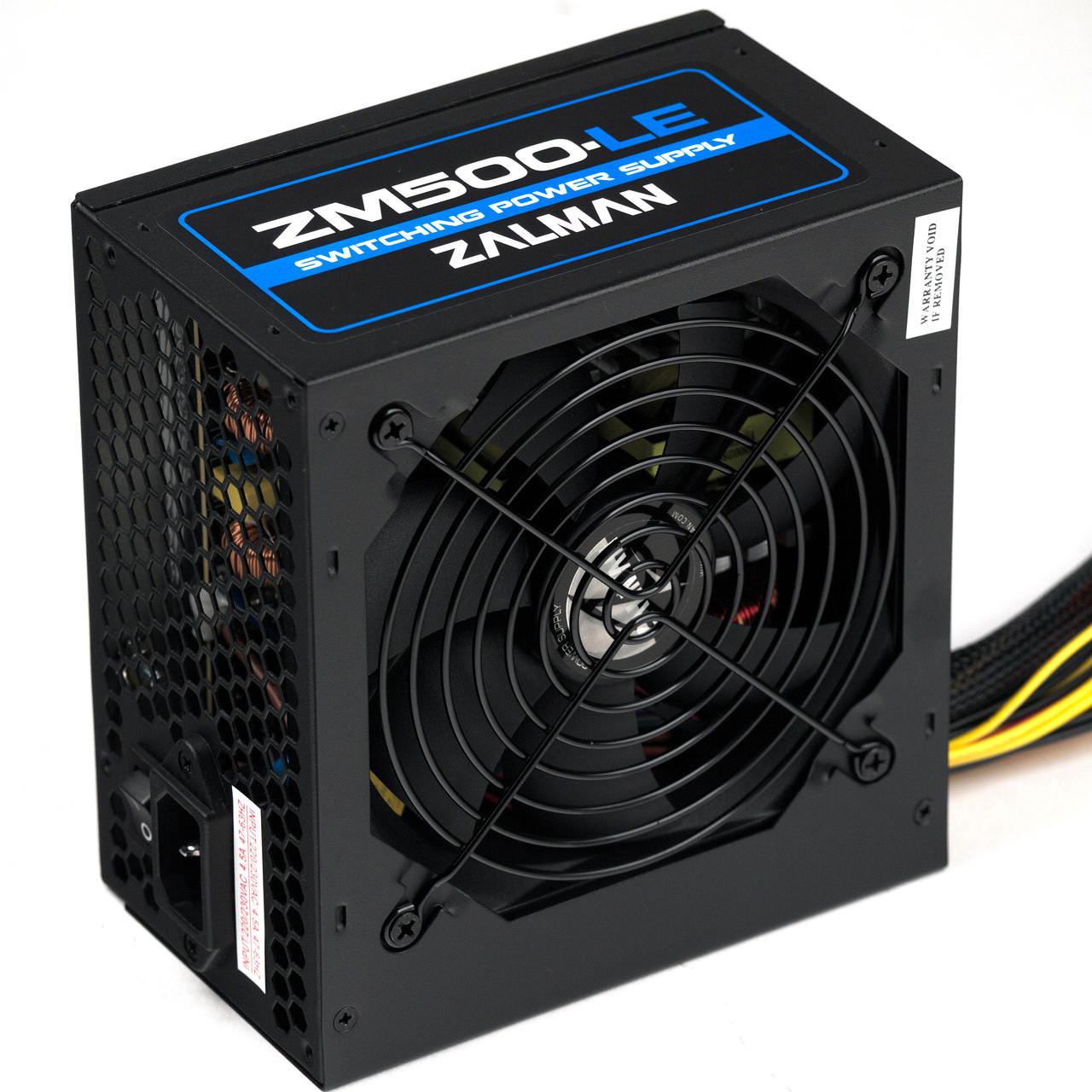 """Блок питания Zalman ZM500-LE 500W  """"Over-Stock"""" Б/У"""