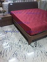 Кровать с мягким изголовьем и деревянным рингом Akademy Modum 1,8х2 м от Camelgroup