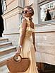 Платье миди с расклешенной юбкой и рюшами на брителях, фото 2