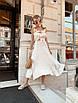 Платье миди с расклешенной юбкой и рюшами на брителях, фото 3