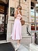 Платье миди с расклешенной юбкой и рюшами на брителях, фото 6
