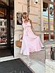 Платье миди с расклешенной юбкой и рюшами на брителях, фото 7