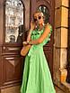 Платье миди с расклешенной юбкой и рюшами на брителях, фото 8