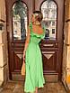 Платье миди с расклешенной юбкой и рюшами на брителях, фото 9