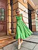 Платье миди с расклешенной юбкой и рюшами на брителях, фото 10