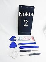 Дисплейный модуль, экран  Nokia 2 TA-1007, Dual Sim TA-1029 с сенсором черный, фото 1