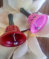 Дзвіночок колольчик з ручкою метал 60х35 мм, фото 1