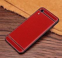 Чехол Litchi для Apple Iphone XR силикон бампер с рифленой текстурой красный