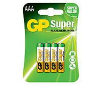 Батарейка GP Super Alkaline AAA блистер 4 шт.