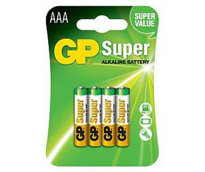 Батарейка GP Super Alkaline AAA блістер 4 шт
