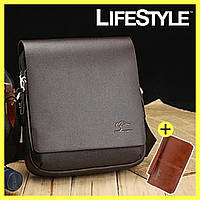 Удобная Мужская Сумка Kangaroo + Портмоне Baellerry Leather в Подарок