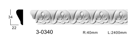 Молдинг для стен с орнаментом Classic Home 3-0340, лепной декор из полиуретана