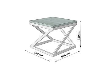 Стол журнальный Бент от Металл Дизайн с доставкой