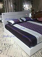 Кровать с подсветкой Onda Bianco 1,8х2 м белый глянец серия Modum от Camelgroup