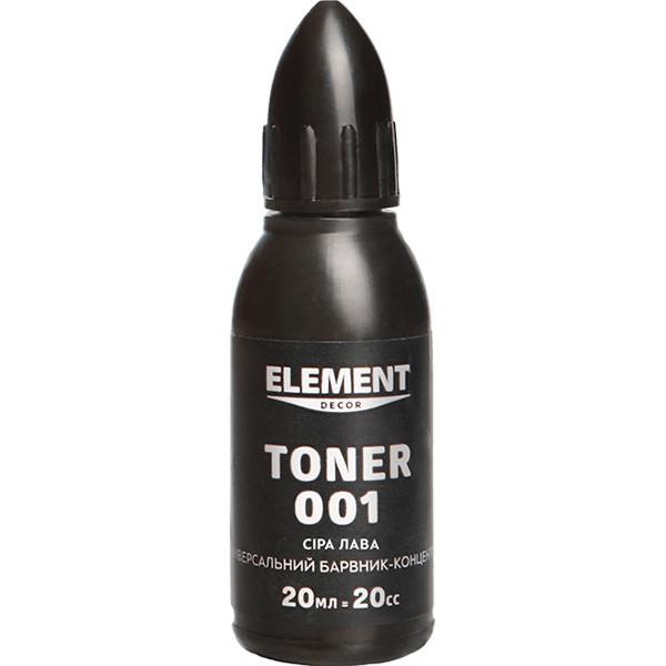 Краситель Element Decor Toner 20мл №001 Серая лава