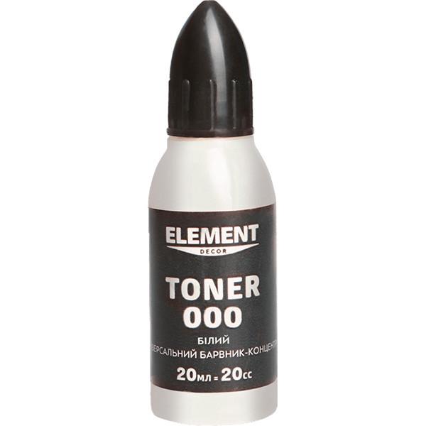 Краситель Element Decor Toner 20мл №000 Белый