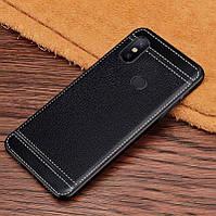 Чехол Litchi для Xiaomi Mi Mix 3 силикон бампер с рифленой текстурой черный