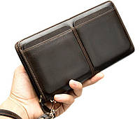 Клатч портмоне Marrant 9020Br темно-коричневый кожа, фото 1
